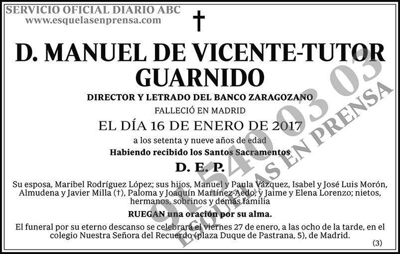 Manuel de Vicente-Tutor Guarnido